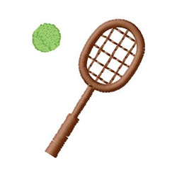 Racquet And Ball embroidery design