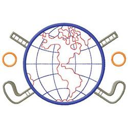 World Golfing embroidery design
