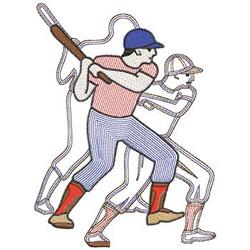 Baseball Player embroidery design
