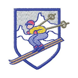 Downhill Skier embroidery design