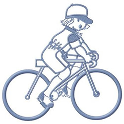 Bike Rider embroidery design