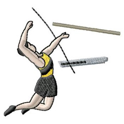Pole Vaulting embroidery design
