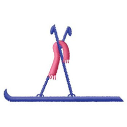 Skis embroidery design