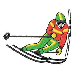 Ski Racing embroidery design