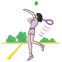 Girl Playing Tennis embroidery design