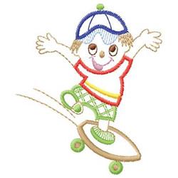 Skateboarding embroidery design
