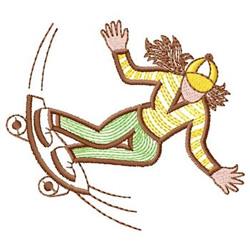 Girl Skateboarder embroidery design