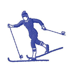 Cross Country Skiing embroidery design
