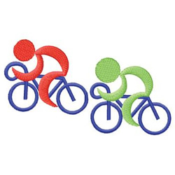Bicycle Riders embroidery design