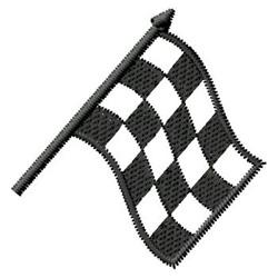 Racing Flag embroidery design