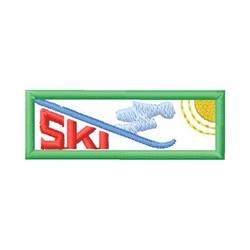 Ski Design embroidery design