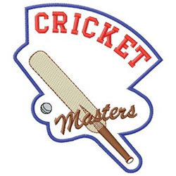 Cricket Masters embroidery design