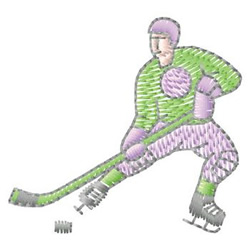 Hockey Guy embroidery design