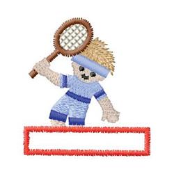 Tennis Name Drop embroidery design