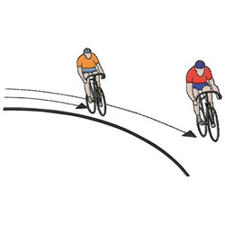 Bicycling embroidery design
