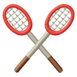 Badminton Racquets embroidery design
