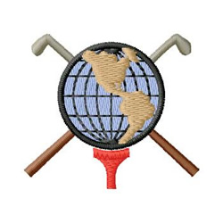 World Golf embroidery design