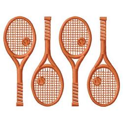 Tennis Racquet Border embroidery design