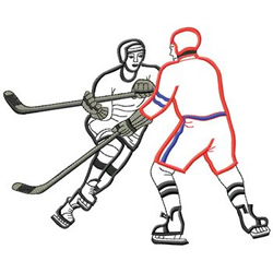 Hockey Players embroidery design