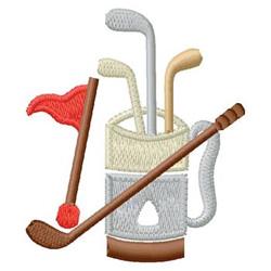 Golf Equipment embroidery design