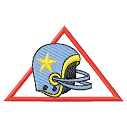 Football Logo embroidery design