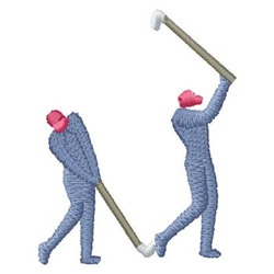 Golfing embroidery design