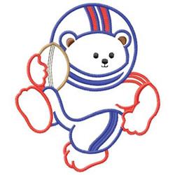 Football Bear embroidery design