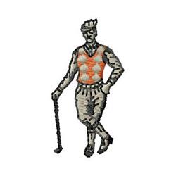 Vintage Golfer embroidery design