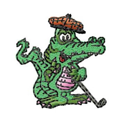 Alligator Machine Embroidery Design Instant by CraftyJacky ...  |Alligator Design Embroidery Floss