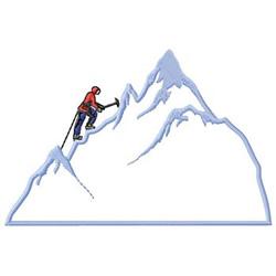 Mountain Climbing embroidery design