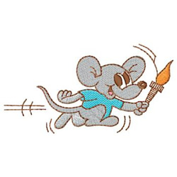 Mouse Runner embroidery design
