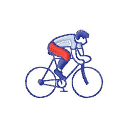 Bicycle Rider embroidery design
