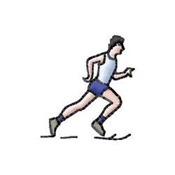 Jogger embroidery design