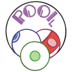 Pool Logo embroidery design