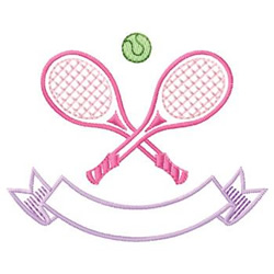 Tennis Name Drop embroidery design