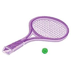 Tennis Racquet embroidery design