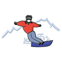 Snowboarding embroidery design