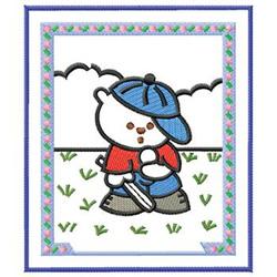 Baseball Bear embroidery design