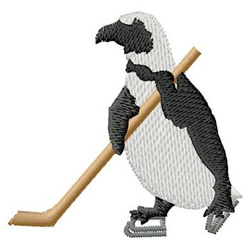Hockey Penguin embroidery design
