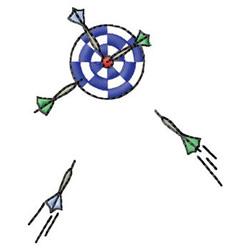Darts embroidery design