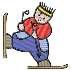 Child On Skis embroidery design