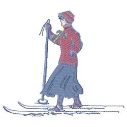 Vintage Skier embroidery design