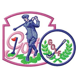 Vintage Golf embroidery design