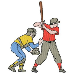 Baseball Players embroidery design