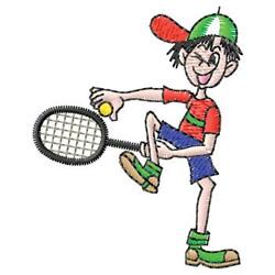 Boy Tennis Player embroidery design