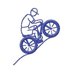 Mountain Biking embroidery design
