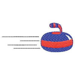Curling embroidery design