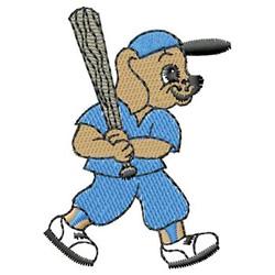 Baseball Dog embroidery design