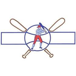 Baseball Name Drop embroidery design