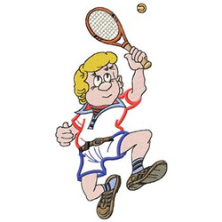 Tennis Guy embroidery design